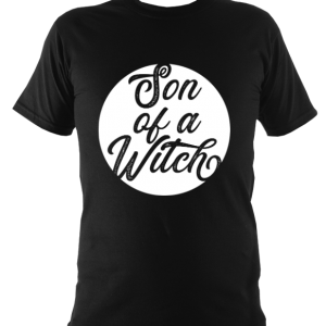 Black son of a witch t-shirt kids
