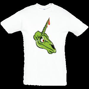 Unicorn Zombie Skull T Shirt