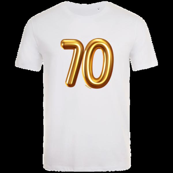 70th birthday balloon t-shirt white