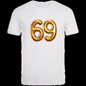 69th birthday balloon t-shirt white