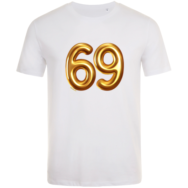 69th birthday balloon t-shirt white