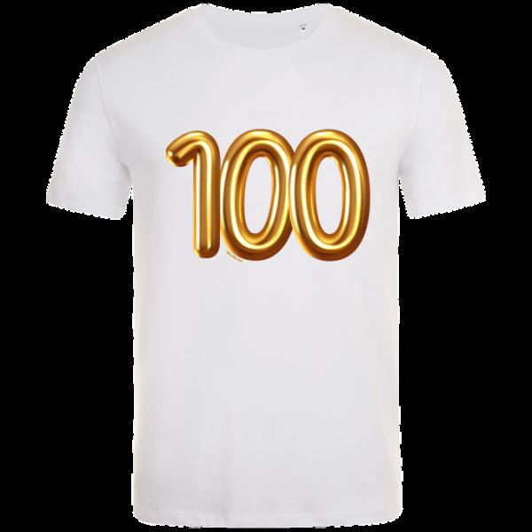 100th birthday balloon t-shirt white