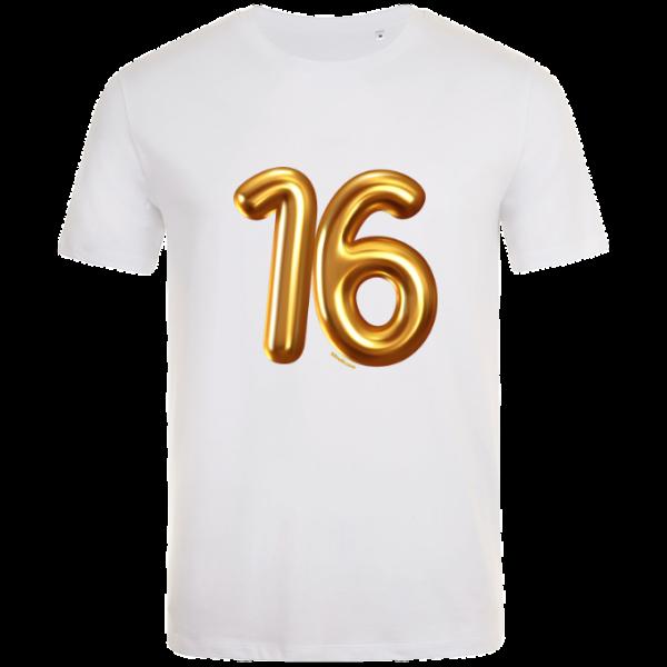 16th birthday balloon t-shirt white
