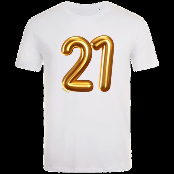 21st birthday balloon t-shirt white