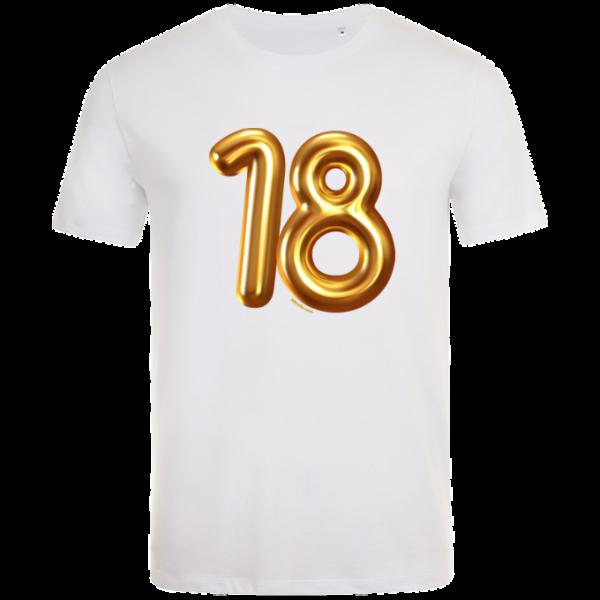 18th birthday balloon t-shirt white