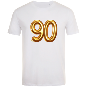 90th birthday balloon t-shirt white