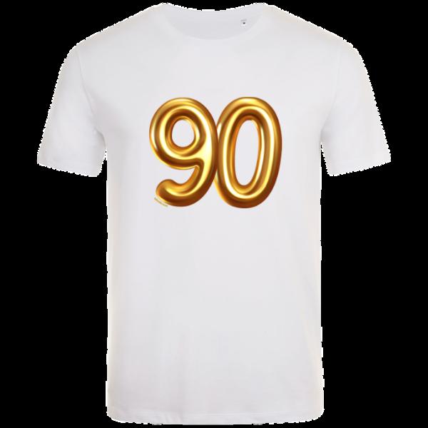 90th birthday balloon t-shirt white