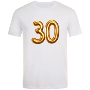 30th birthday balloon t-shirt white