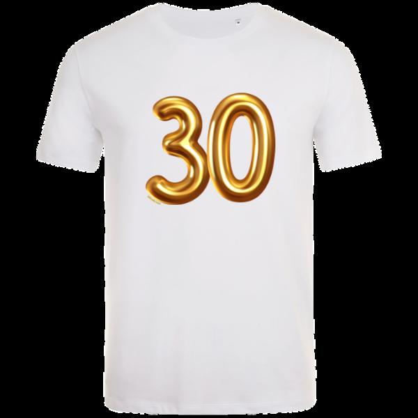 30th birthday balloon t-shirt white